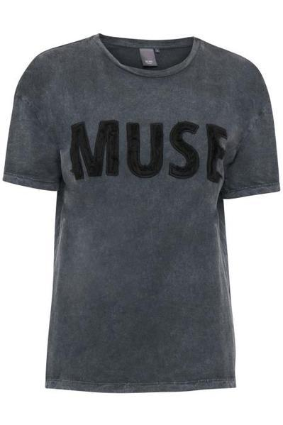 Muse Logo Faded Black T Shirt by ICHI