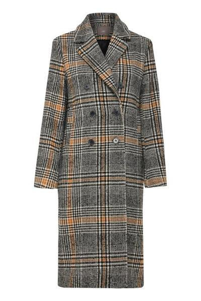 Ichi Sorba Single Breasted Check Overcoat