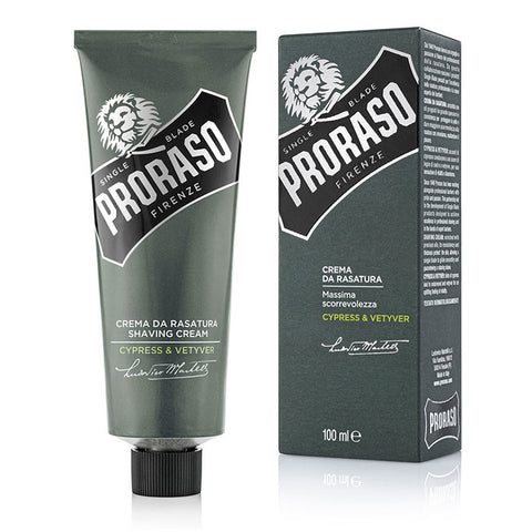 Proraso Shaving Cream Cypress & Vetyver - Rasiercreme - No More Beard
