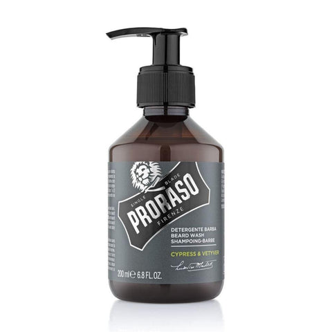 Proraso Beard wash Cypress & Vetyver 200 ml - No More Beard