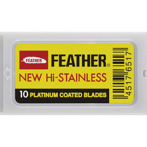 Feather Hi-Stainless Rasierklingen - No More Beard