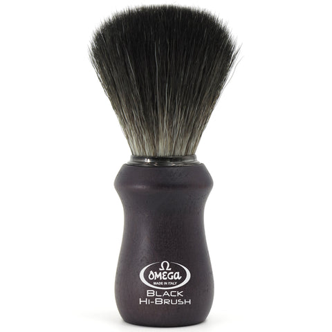 Omega Black Hi-Brush Rasierpinsel aus synthetischem Kunststoff - No More Beard