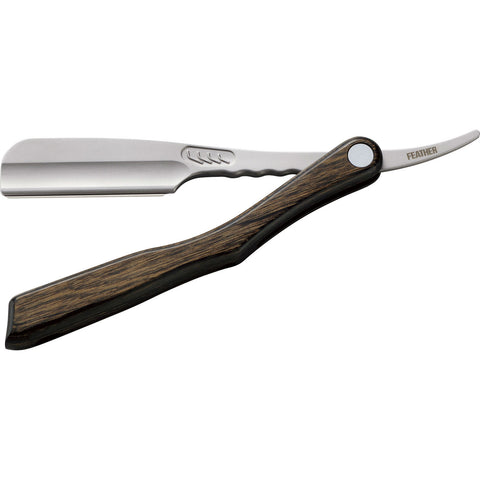 Feather Artist Club SS Scotch wood straight razor (shavette) - No More Beard