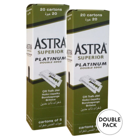 Astra Superior Platinum razor blades Double Pack - No More Beard