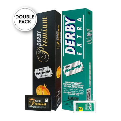 Derby Extra & Premium razor blades Double Pack - No More Beard