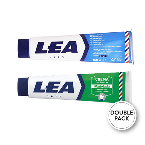 LEA Menthol & Sensitive Rasiercreme Doppelpack - No More Beard