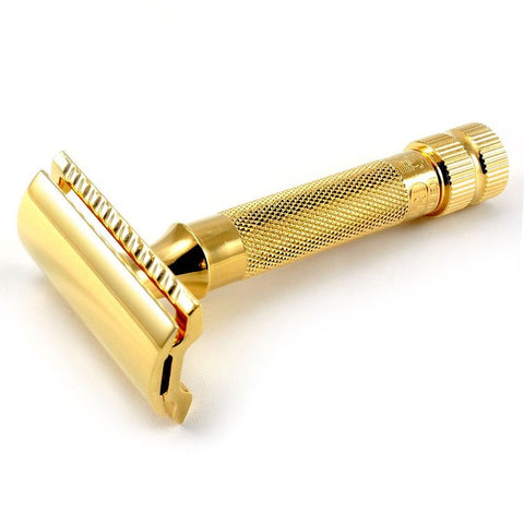 Merkur 34C gold safety razor set - No More Beard