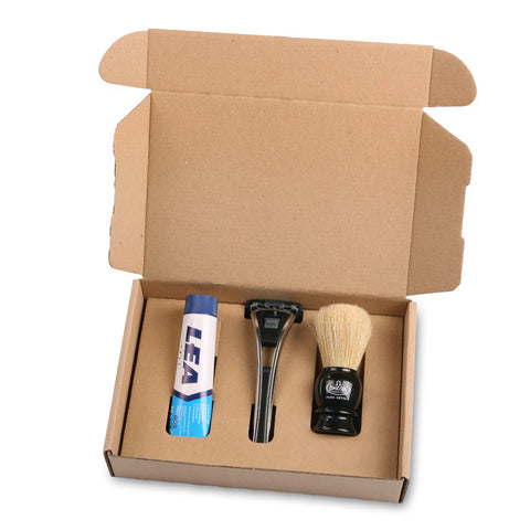 Starterkit mit Feather Systemrasierer - No More Beard
