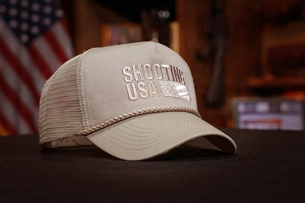 Jim's Mid-Rise Trucker Shooting USA Caps