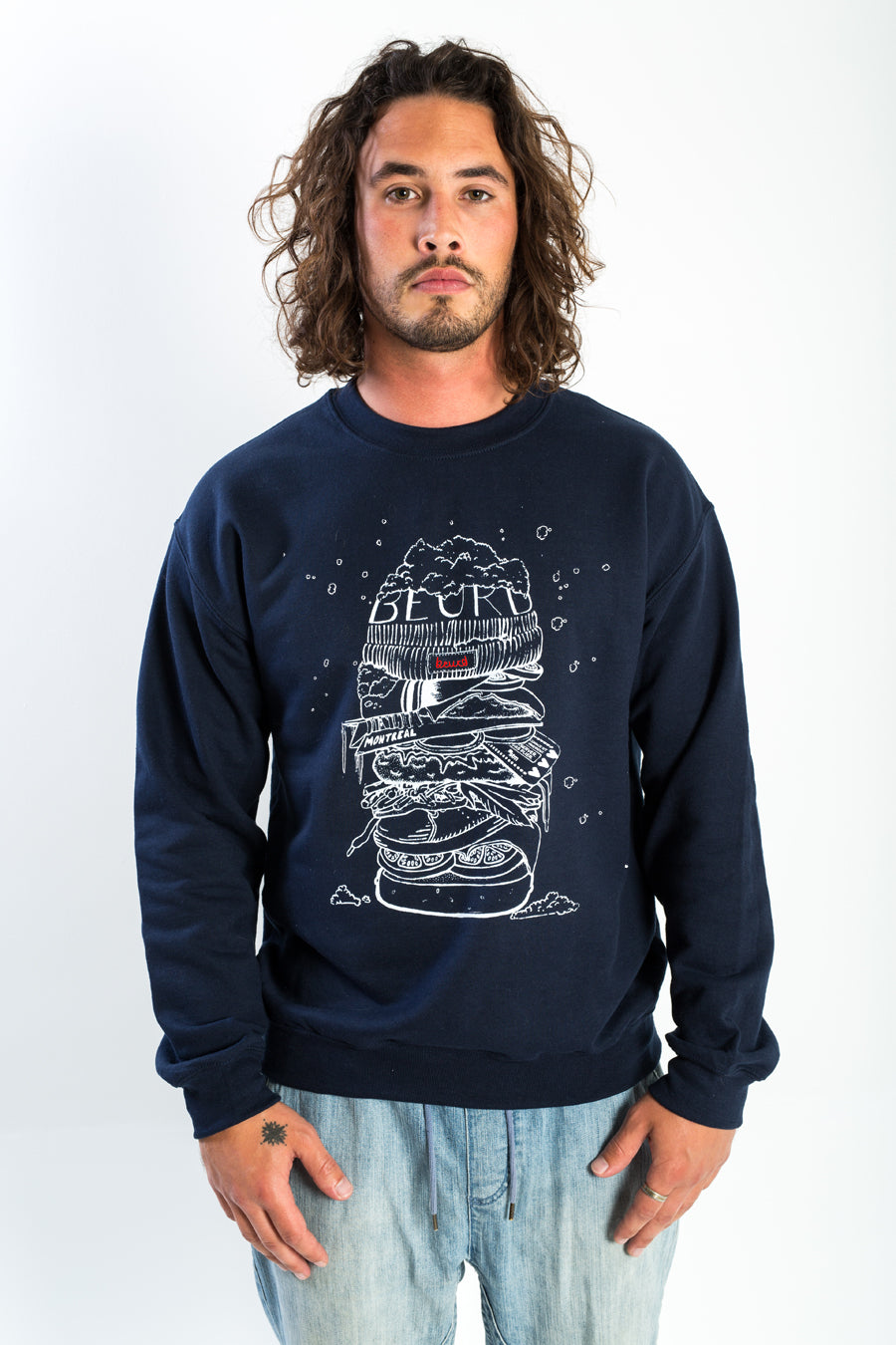 "Crewneck ""Snow Burger"""