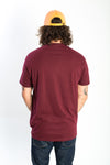 T-shirt Mtl Burger bordeaux de dos