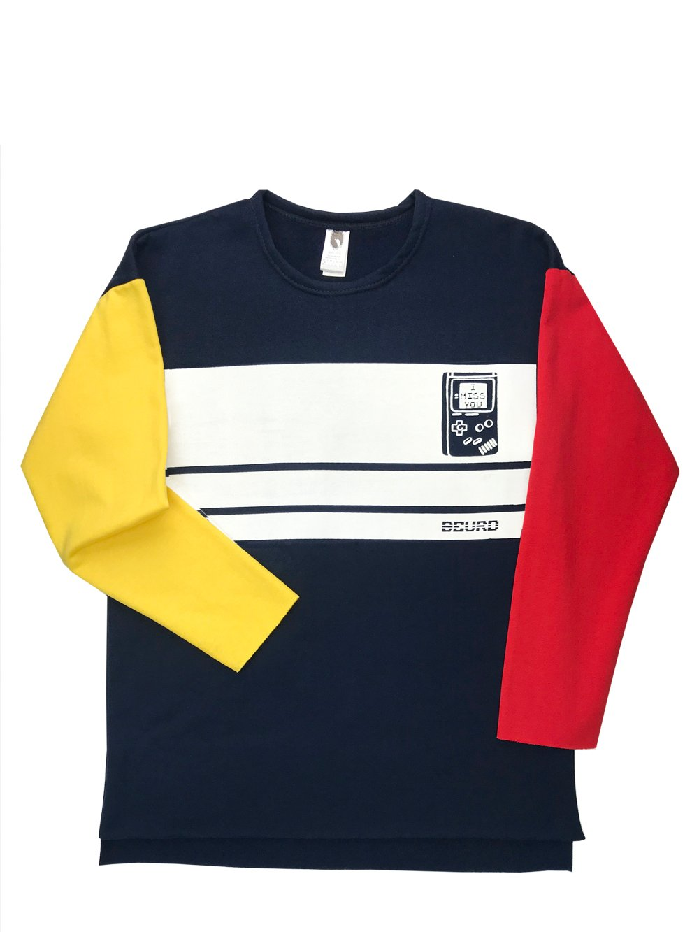 Oversized sweater crewneck drop shoulder colorblock