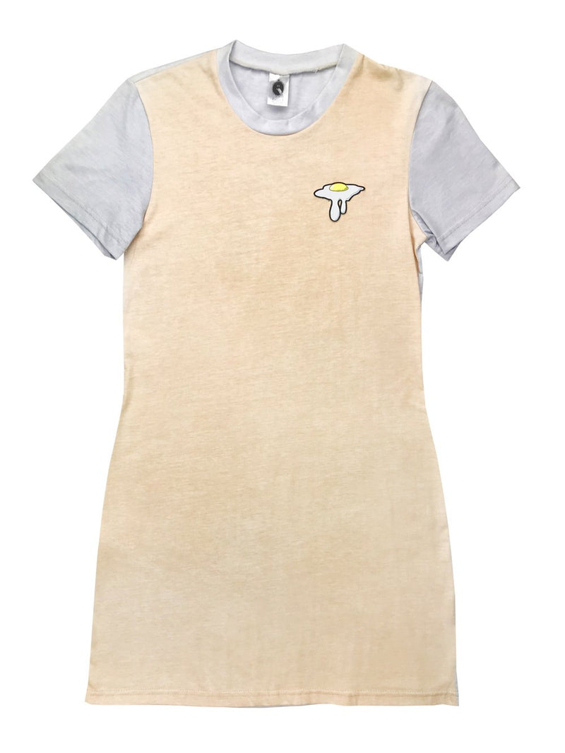 Robe t-shirt colorblock avec patch Oeuf