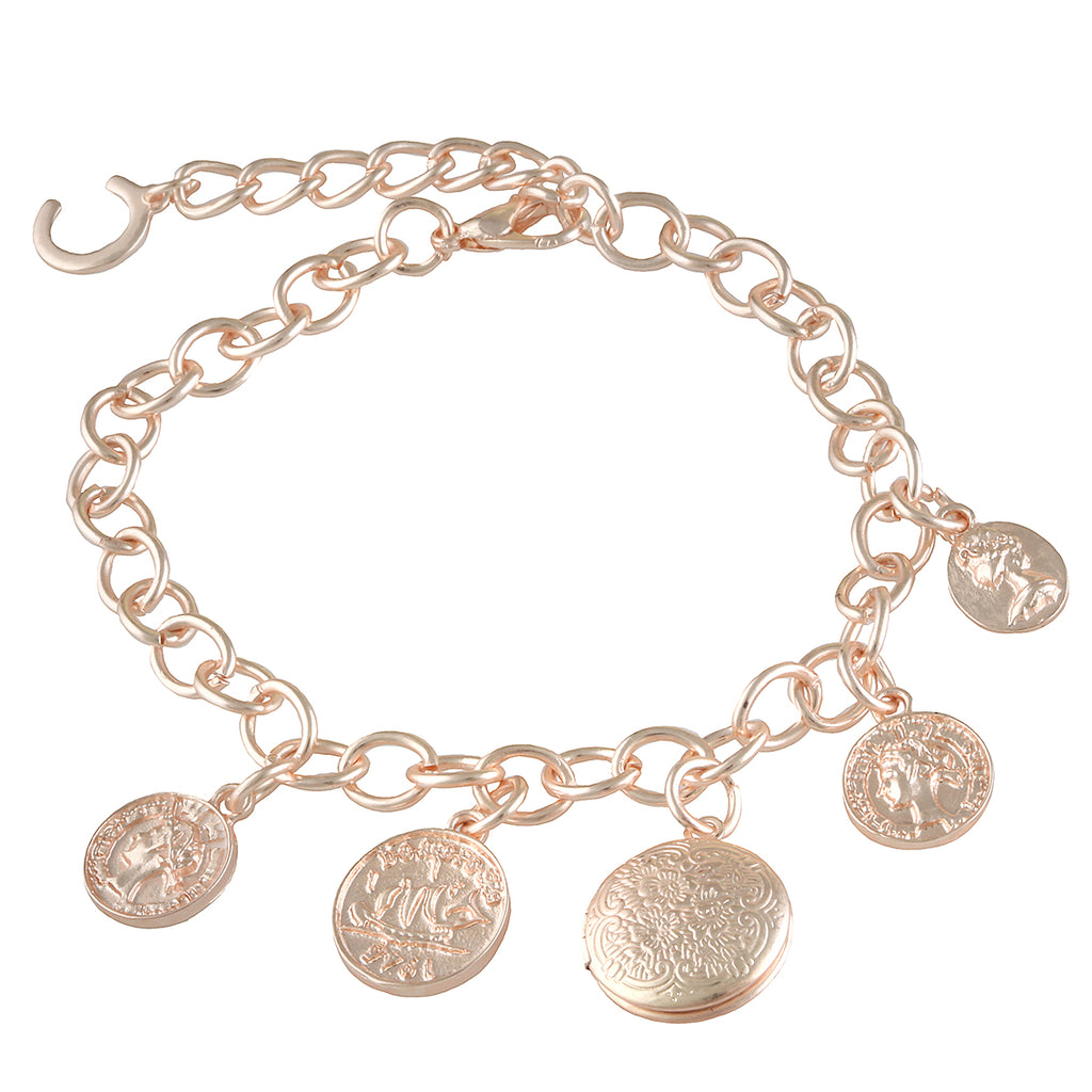 Be charmed rose gold bracelet