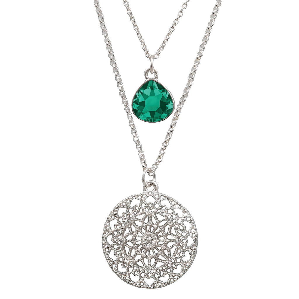 Sienna double necklace emerald
