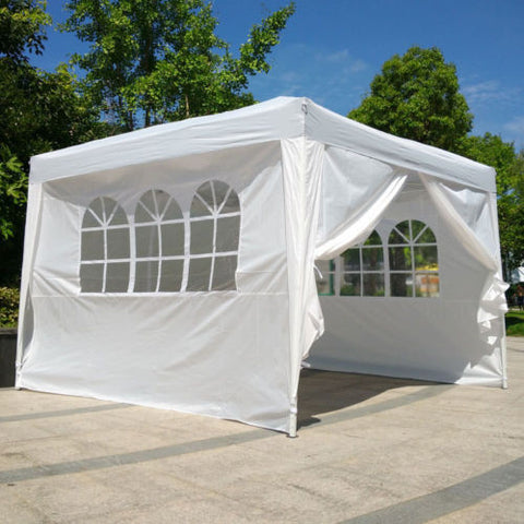 10x10 EZ Up Canopy Wedding Birthday Waterproof Party Tent Outdoor Gazebo White