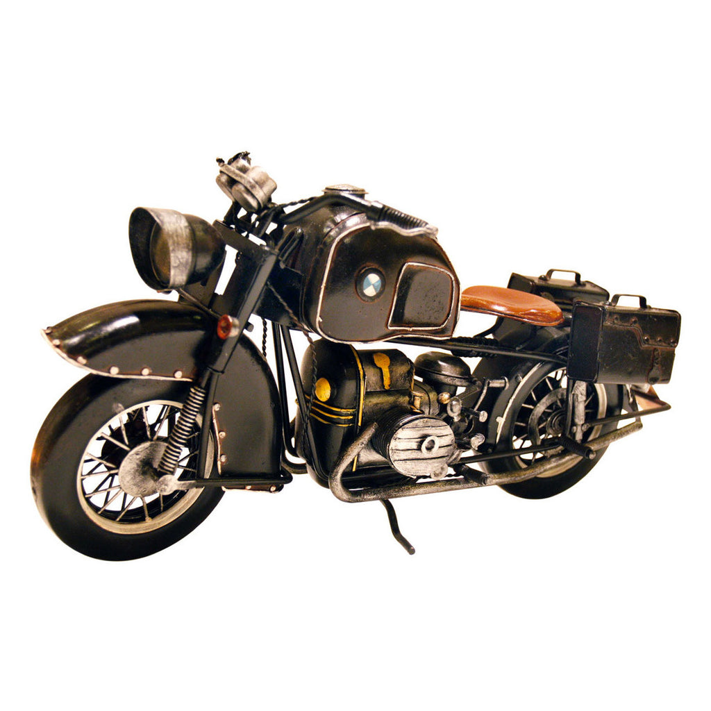 Pretty Valley Home - Retro Classic Handmade Iron 'BLACK BMW R71 PRE - WAR II MOTORCYCLE' Model Craft Figure