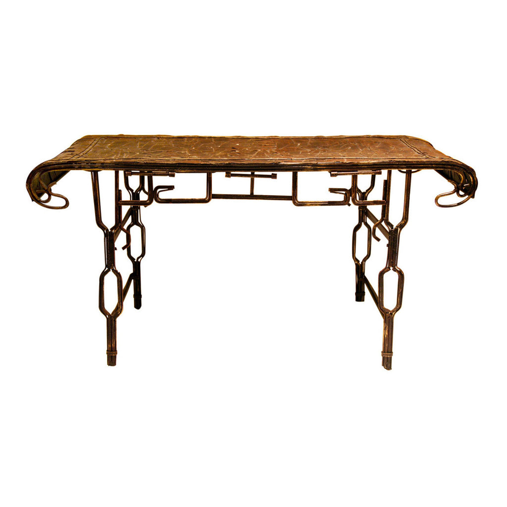 Pretty Valley Home - Retro Classic Handmade Iron 'ANTIQUE MINIATURE TABLE' Model Craft Figure