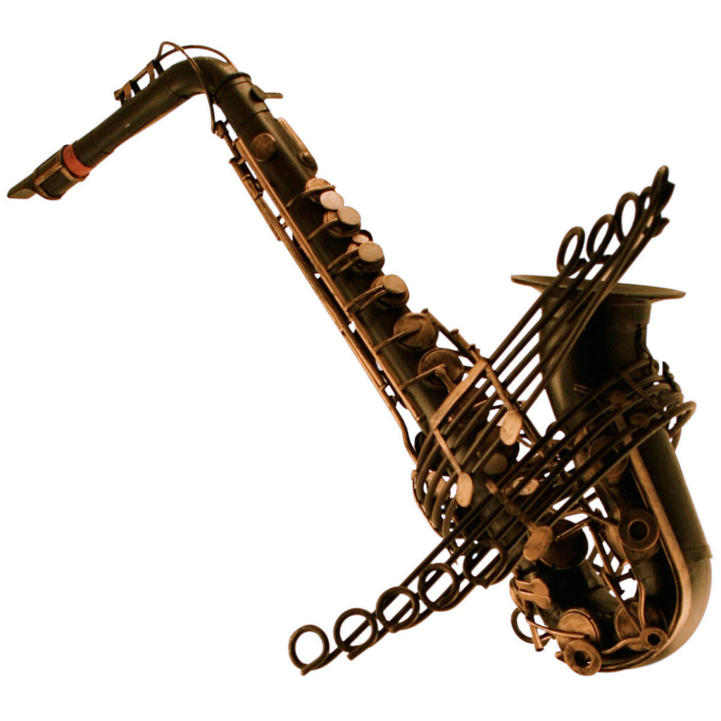 Pretty Valley Home - Vintage Saxaphone Scaled Model Décor