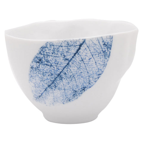 Pretty Valley Home - Blue Leaf - Ceramic Appetizer Bowl