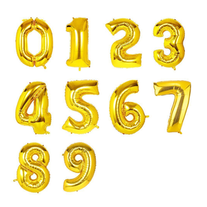 Helium Filled Numbers 34""