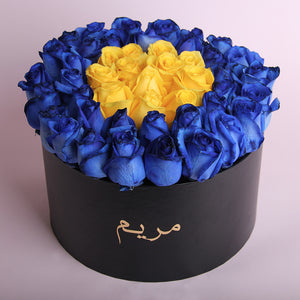 Blue & Color Round Box