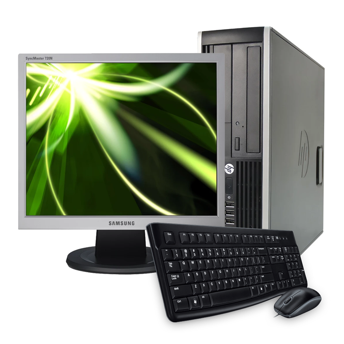 "Desktop and 17"" Monitor Bundle, Intel Core i3-2120 3.30GHz, 4GB RAM, 500GB HDD, Windows 10 Pro 64bit - Includes Keyboard & Mouse"