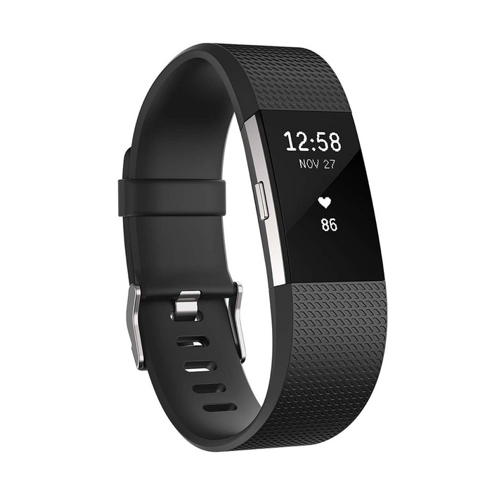 Fitbit Charge 2 Heart Rate and Fitness Wristband - Black - Small