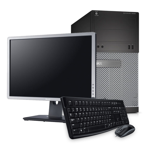 "Desktop and 22"" Monitor Bundle, Intel Core i5-4570 3.20GHz, 4GB RAM, 500GB HDD, Windows 10 Pro 64bit - Includes Keyboard & Mouse"