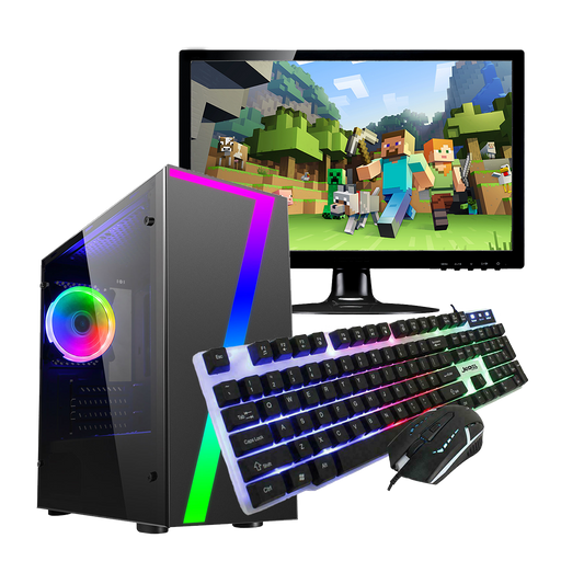 CiT 7 Gaming PC and Monitor Bundle, Intel Core i5, 8GB RAM, 1TB HDD, 2GB GT710 Graphics, Windows 10 Home 64bit - Includes LED Keyboard and Mouse