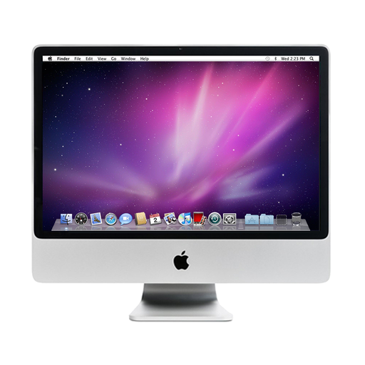 "Apple iMac - A1224 - 20"" Display, Intel Core 2 Duo 2.66GHz, 2GB RAM, 320GB HDD, macOS X Snow Leopard - 1 Faulty USB Port"