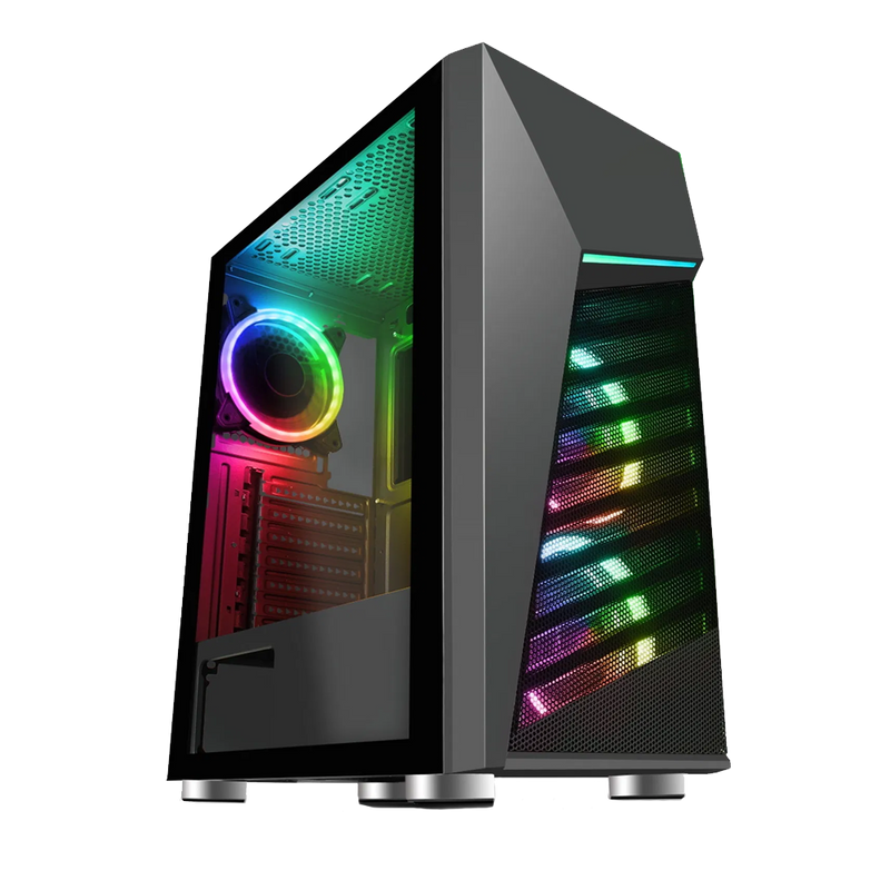 CiT Alpha Black Gaming PC Tower, Intel Core i7, 16GB RAM, 256GB SSD + 1TB HDD, 4GB GTX 1050 Ti Graphics, Windows 10 Home 64bit - Includes LED Keyboard and Mouse