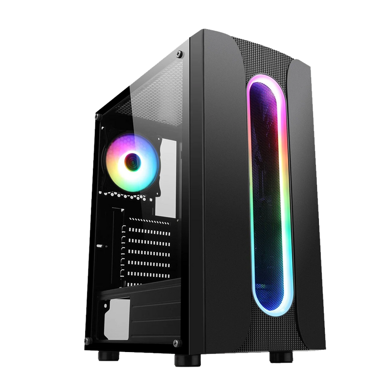 CiT Sauron Gaming PC Bundle, Ideal for FORTNITE, Intel Core i5, 16GB RAM, 256GB SSD + 1TB HDD, 4GB GTX 1050Ti Graphics, Windows 10 Home 64bit - Includes Keyboard & Mouse