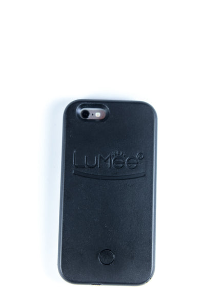 LuMee Illuminated iPhone 6 Case, Protective Case Cover Led Light Up Selfie Case with USB Cable- Black
