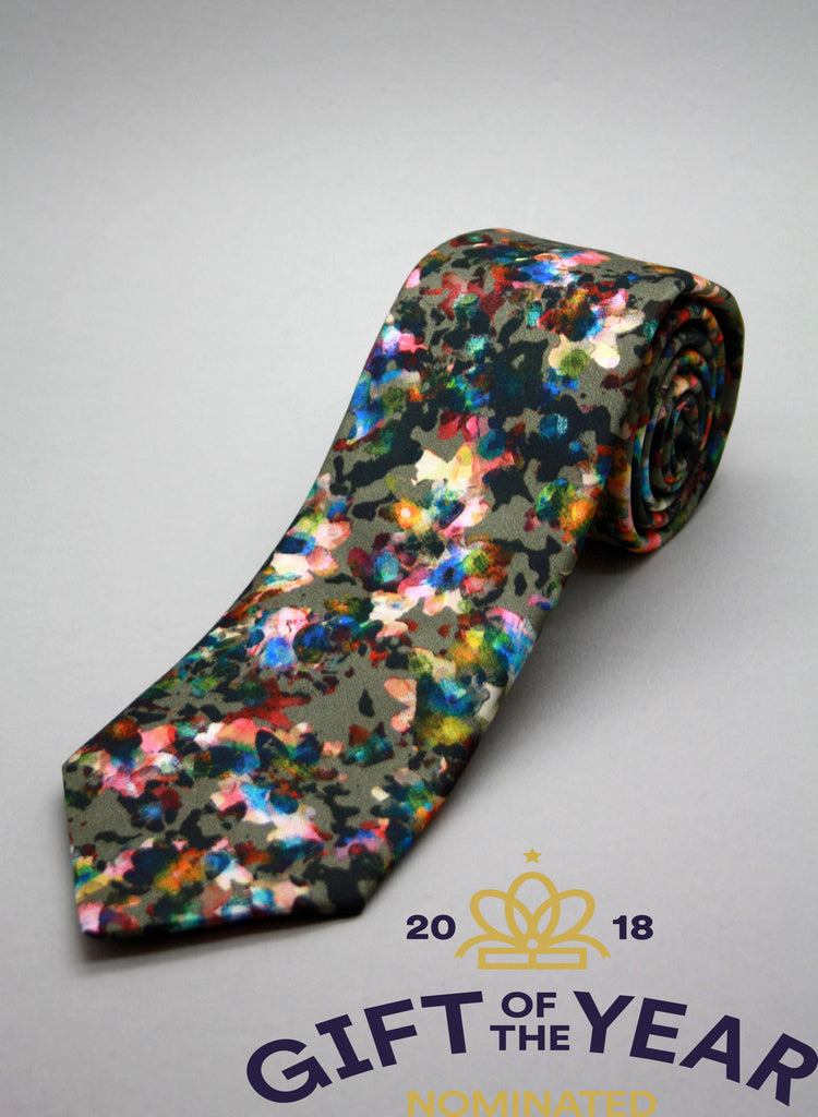 colourful printed tie