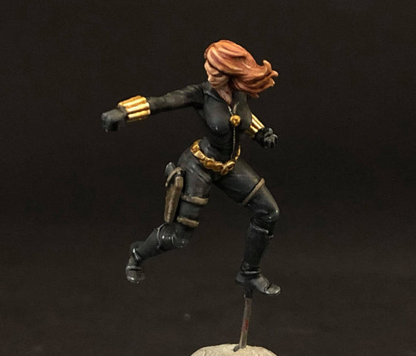 MCP Black Widow, front, painted by Jez Allum