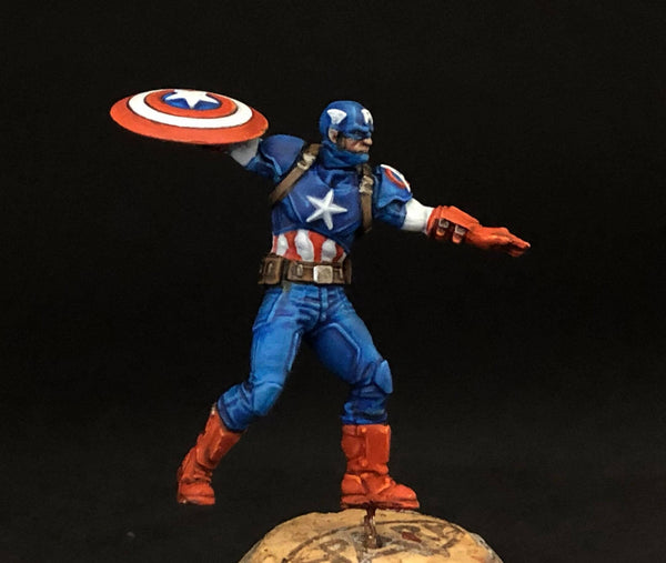 MCP Captain America, front, painted by Jez Allum