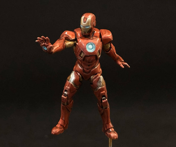MCP Iron Man, front, painted by Jez Allum