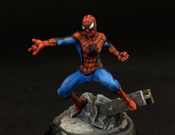 MCP Spider Man, front, painted by Jez Allum