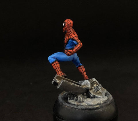 MCP Spider Man, side, painted by Jez Allum