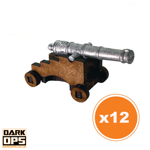 Cannon & Carriage - Style 1 (x12)