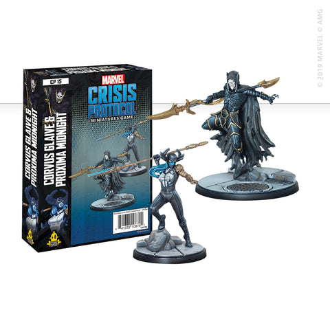 Marvel: Crisis Protocol Corvus Glaive and Proxima Midnight set now available from dark-ops.co.uk