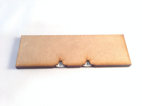 150mm X 50mm Base with Integrated Wound Counters