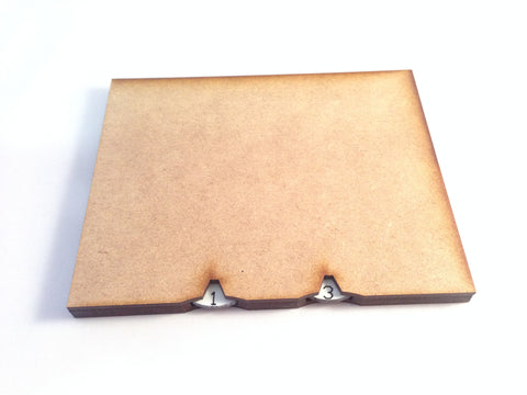 125 mm x 100 mm Base With Integrated Wound Counters