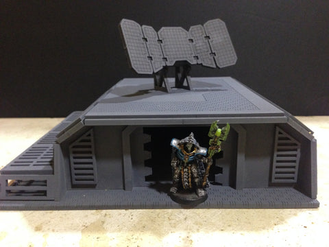 Dark-Fi Radar Bunker – DarkOps Laser Cut Wargaming Terrain & Accessories