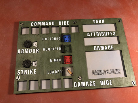 4 Board Tanktastic - What a Tanker MDF Dashboards