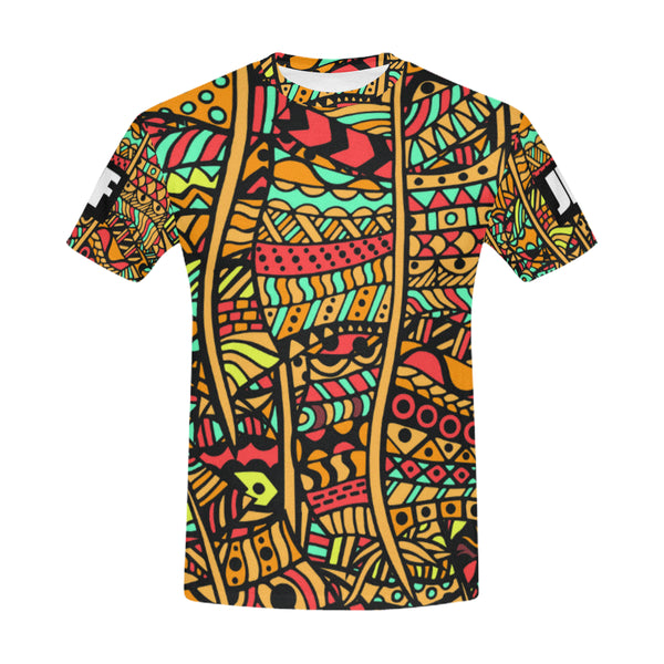 Orange Tribal short sleeve