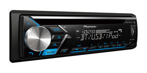 DEH-S4000BT Single DIN Bluetooth In-Dash CD/AM/FM Car Stereo Receiver w/ Dual Phone Connection, Pandora Control