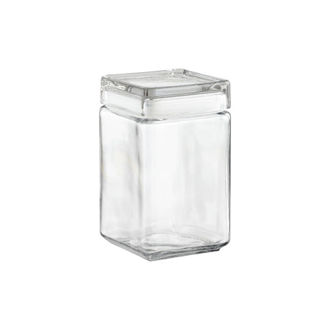 Anchor Squared Glass Empty Jar