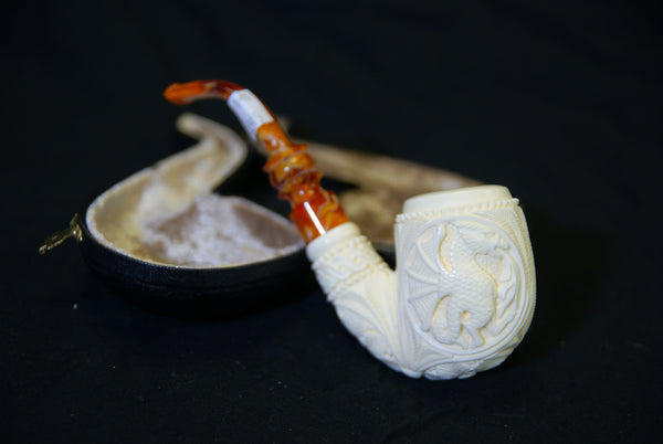 Meerschaum Dragon Pipe
